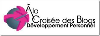 """logo """"A la croisée des blogs"""" sur developpementpersonnel.org pour l'édition sur l'éloge de l'imperfection"""