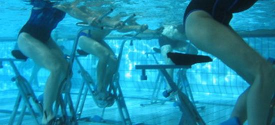le aquabiking est un des nouveaux sports d aquagym plutôt destiné à muscler le bas du corps