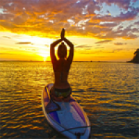 Stand Up Paddle Yoga : l'équilibre absolu !