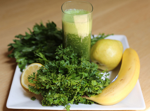Ingrédients pour smoothies verts minceur