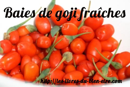 Les baies de goji fraîches ne sont pas exportées par les pays producteurs.